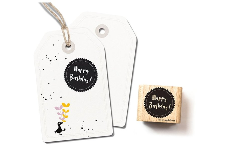 Stempel Tekst 'Happy birthday' 4 – Sternenform 2404