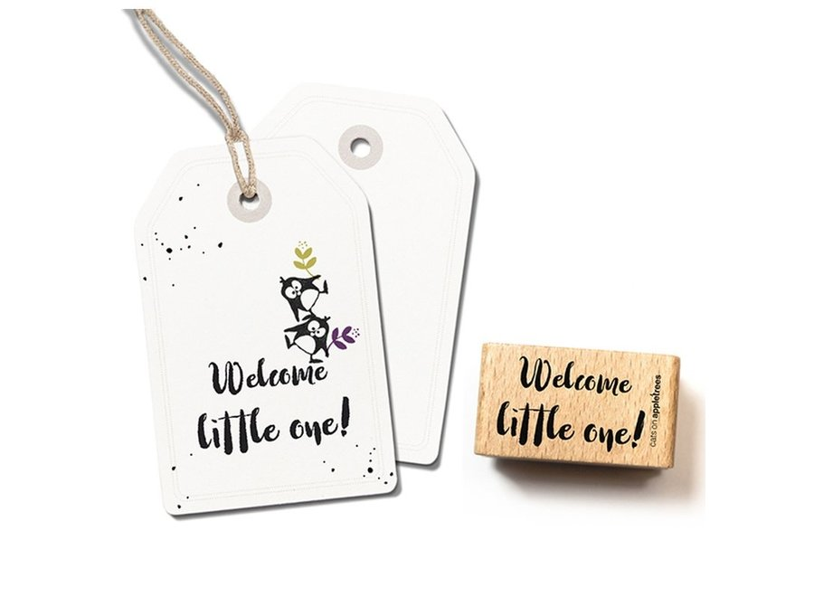 Stempel Tekst 'Welcome little one' 2440