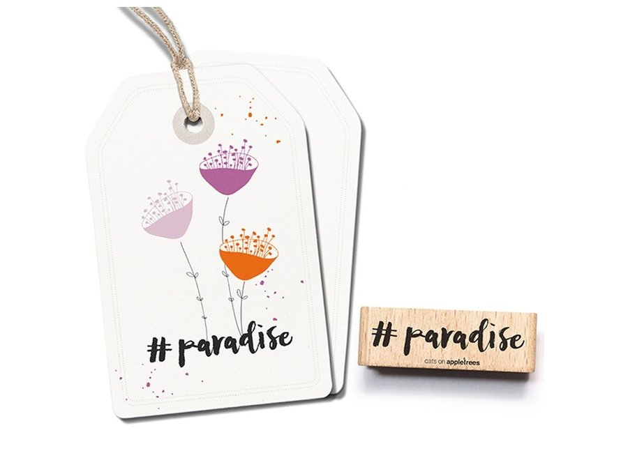 Stempel Tekst #paradise 2482
