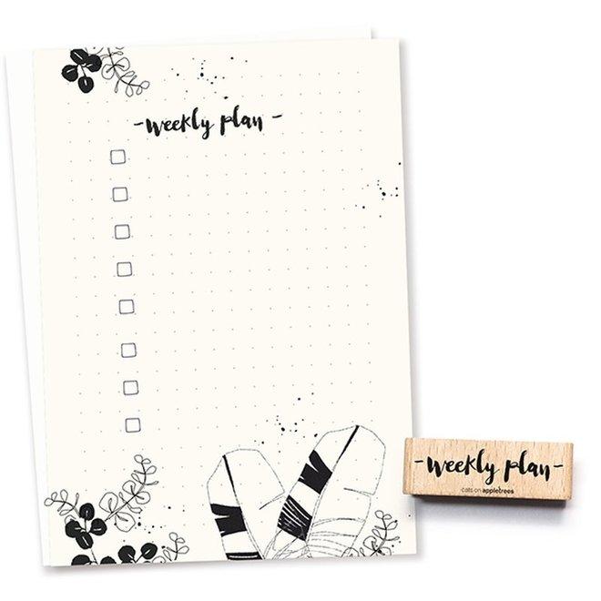 Stempel Tekst weekly plan – bullet journal 2493