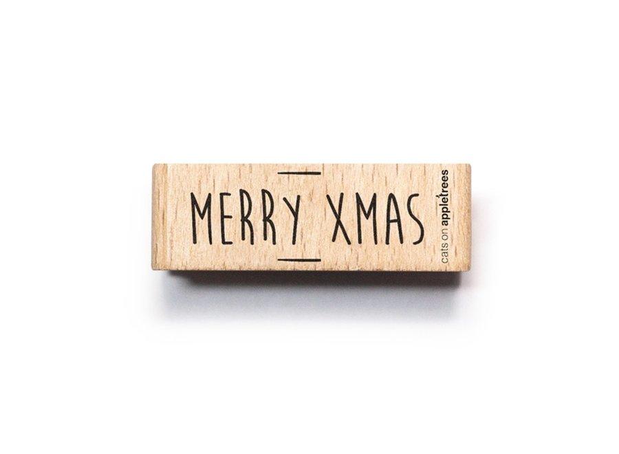 Stempel Tekst Merry Christmas 3 2563