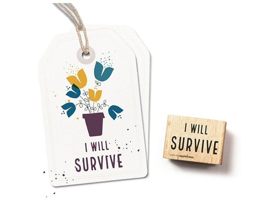 Stempel Tekst I will Survive 27262
