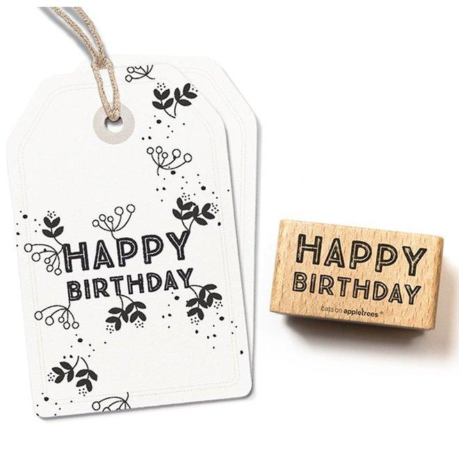 Stempel Tekst Happy Birthday 6 27260