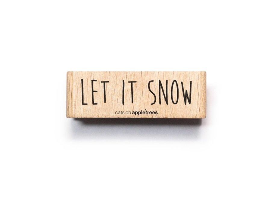 Stempel tekst Let it snow 2560