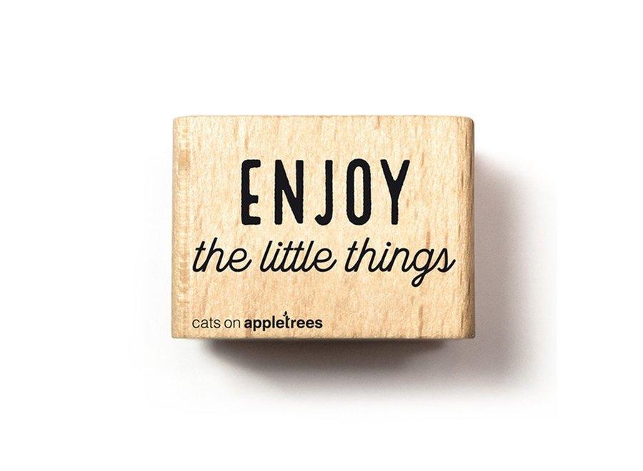 Stempel Tekst Enjoy the little things 2716