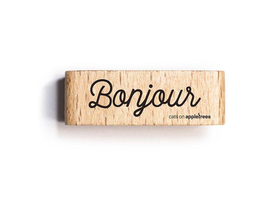 Stempel Tekst Bonjour 2711