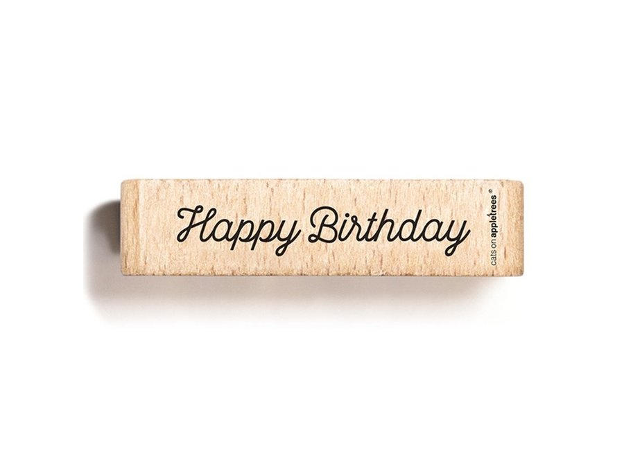 Stempel tekst Happy Birthday 5 2706
