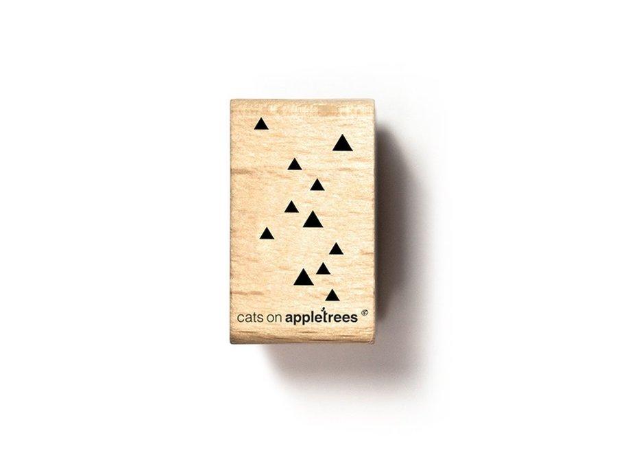 Stempel driehoekjes regen 2673