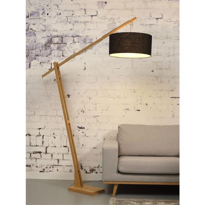 Vloerlamp Montblanc zwart  bamboe