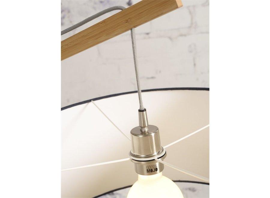 Vloerlamp Montblanc wit  bamboe