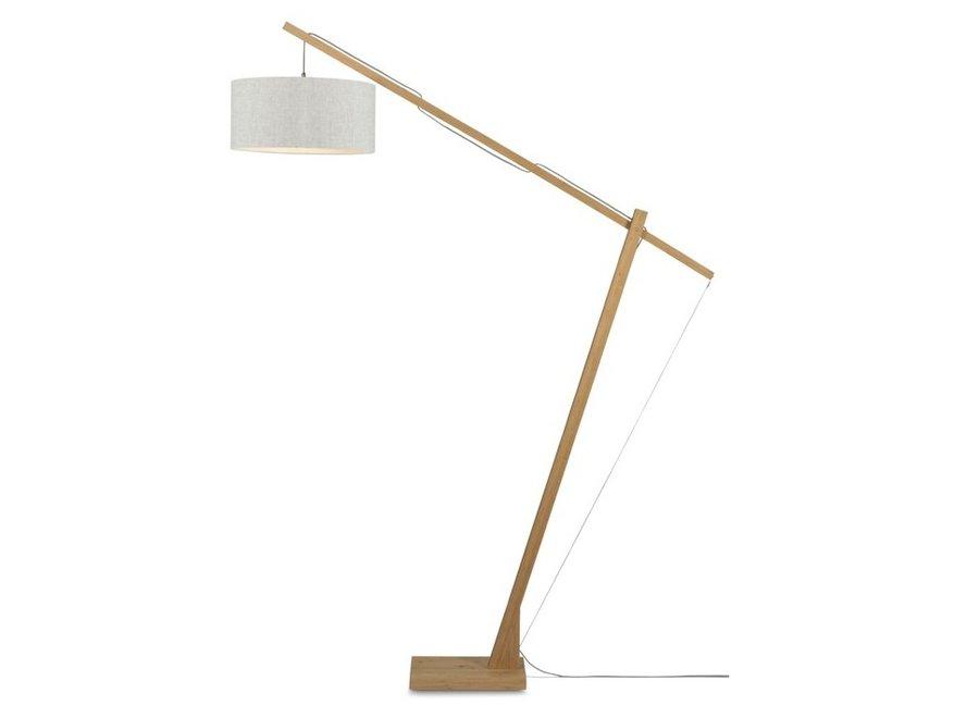 Vloerlamp Montblanc licht linnen  bamboe