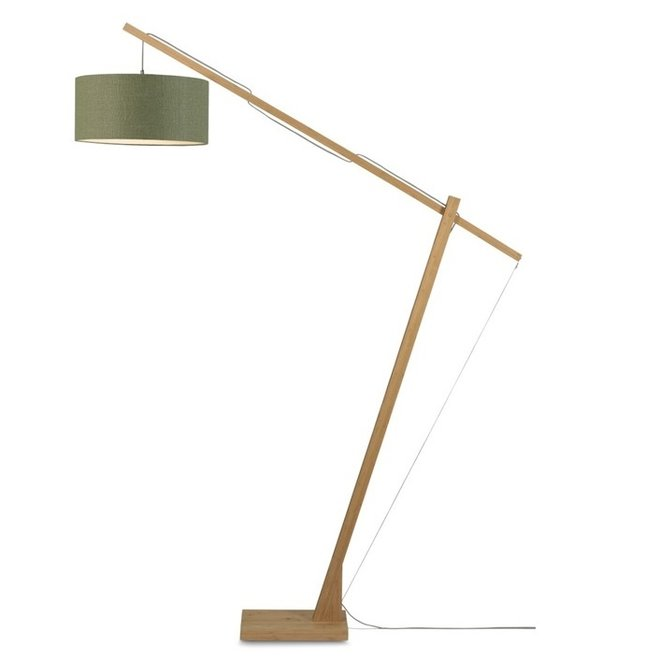 Vloerlamp Montblanc groen  bamboe