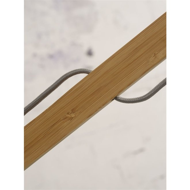 Vloerlamp Montblanc donkergrijs  bamboe