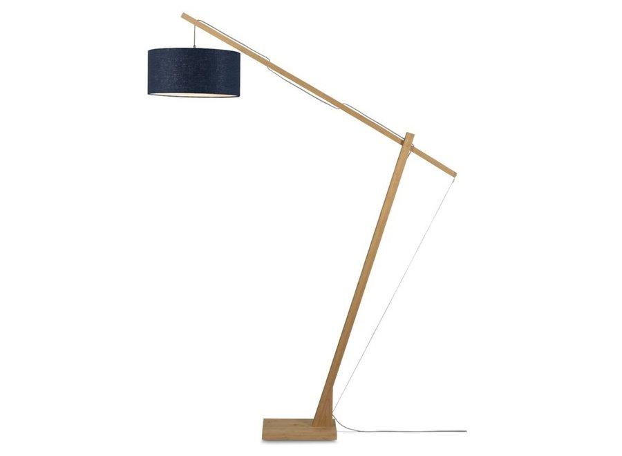 Vloerlamp Montblanc blauw  bamboe
