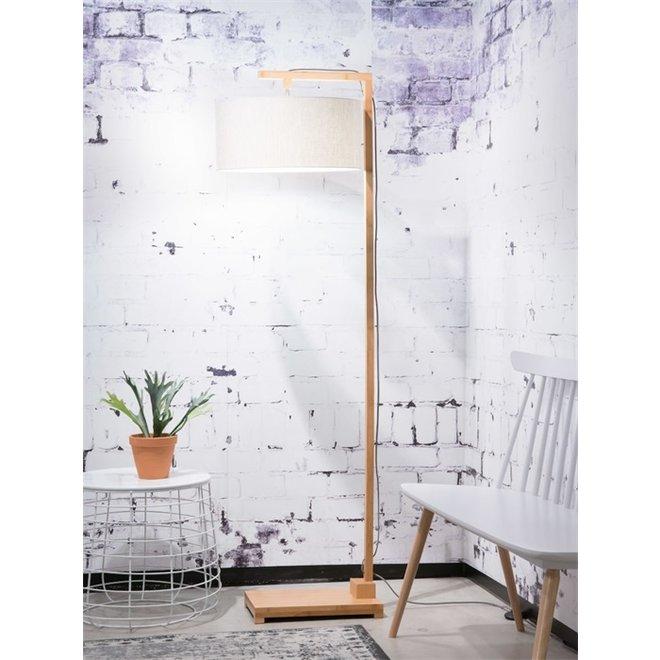 Vloerlamp Himalaya licht linnen  bamboe