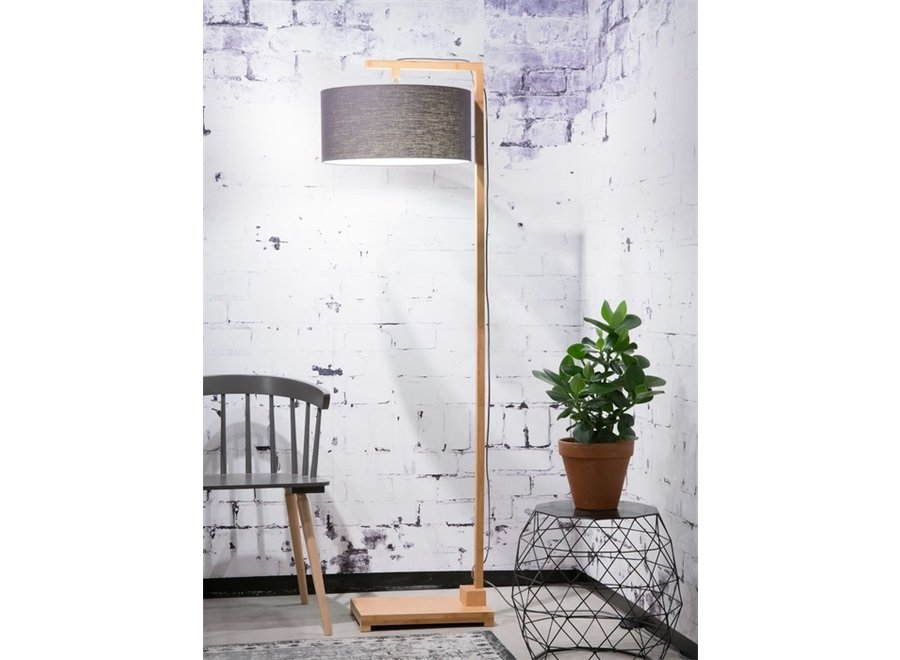 Vloerlamp Himalaya donkergrijs  bamboe