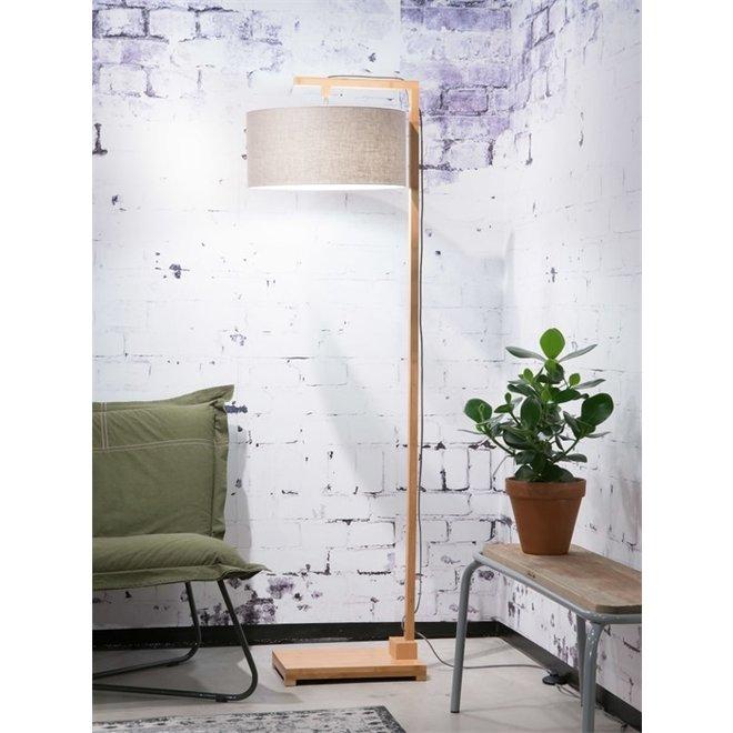 Vloerlamp Himalaya donker linnen  bamboe