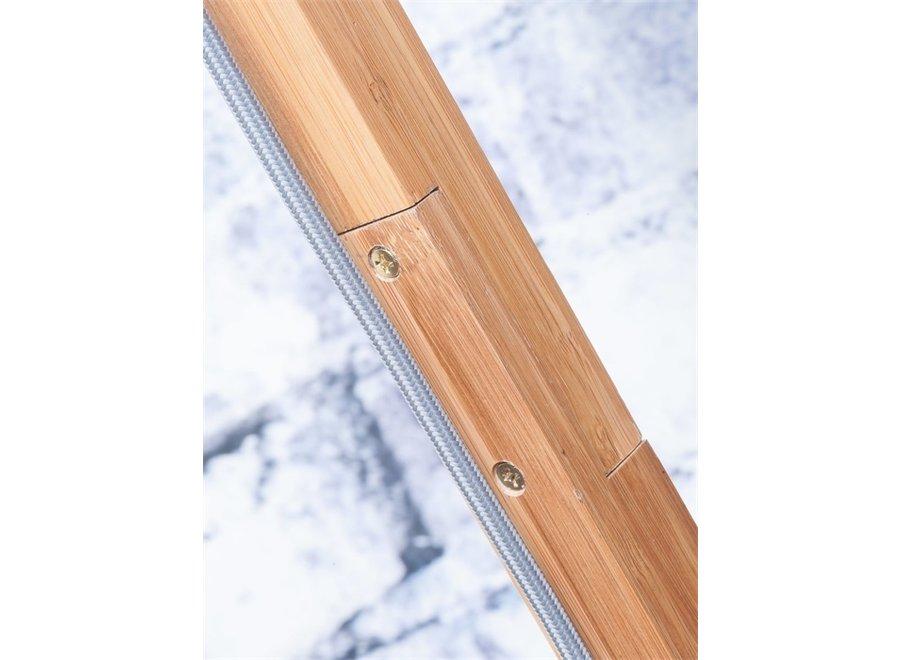 Vloerlamp Fuji wit  bamboe