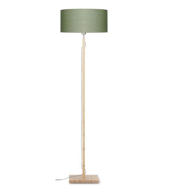 Vloerlamp Fuji groen  bamboe
