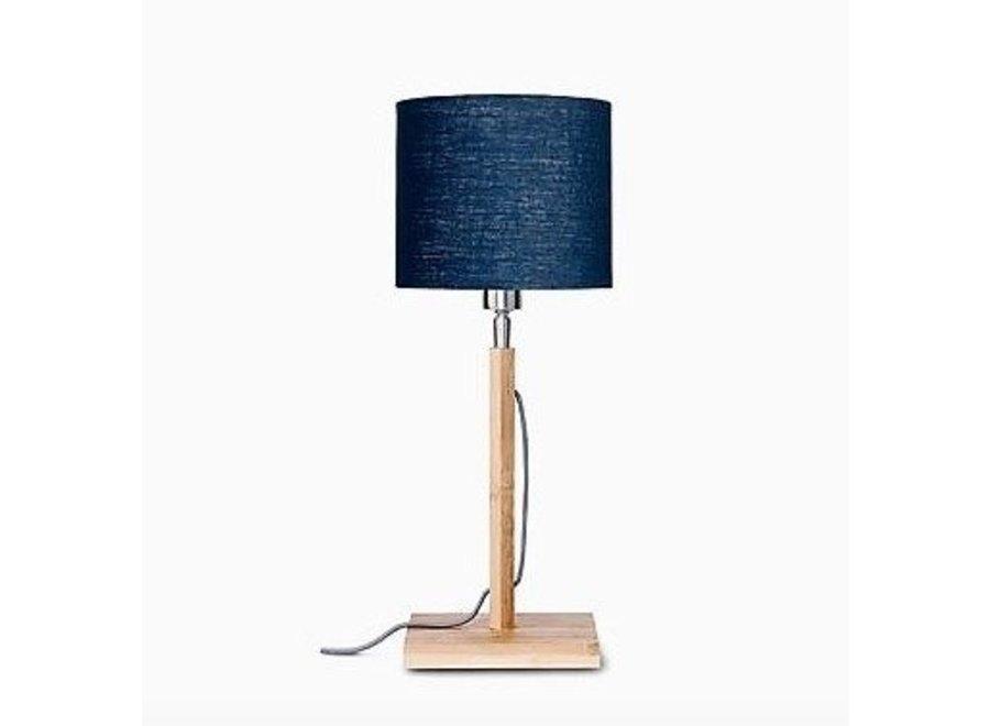 Tafellamp Fuji blauw  bamboe