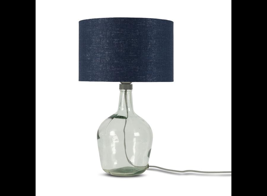 Tafellamp Murano glas S blauw  bamboe