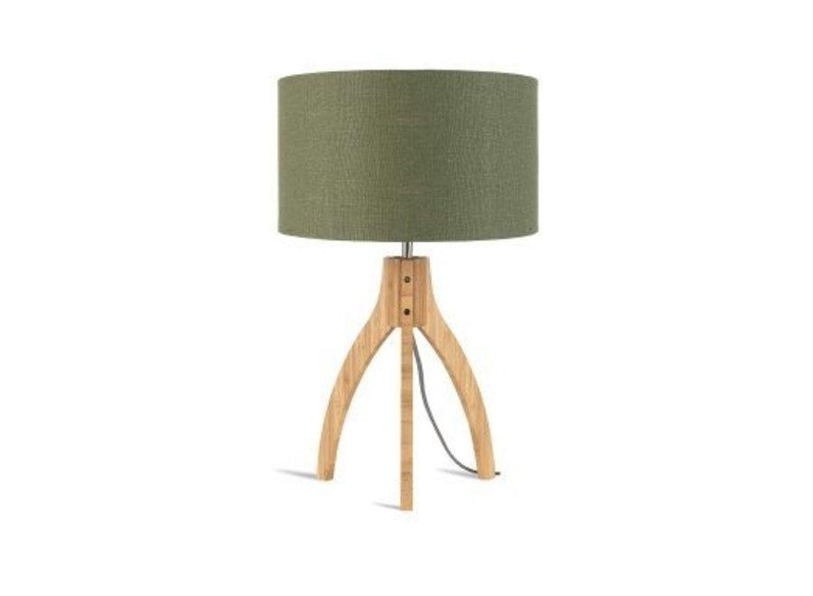 Tafellamp Annapurna groen  bamboe