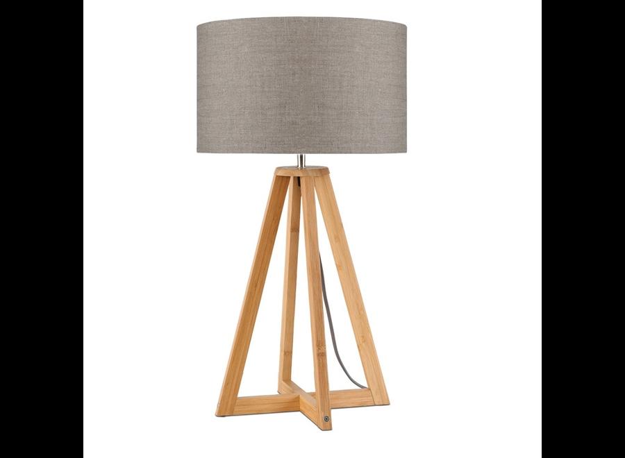 Tafellamp Everest donker linnen  bamboe