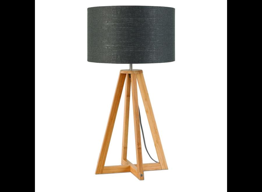 Tafellamp Everest donkergrijs  bamboe