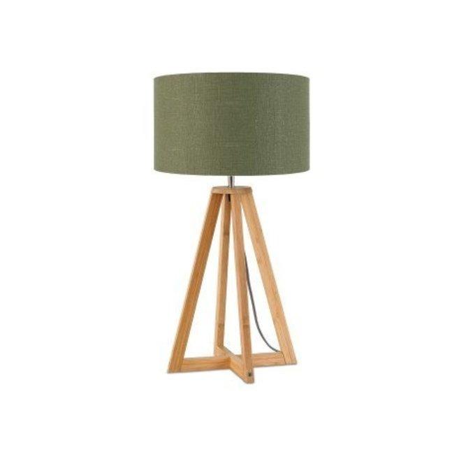 Tafellamp Everest groen  bamboe