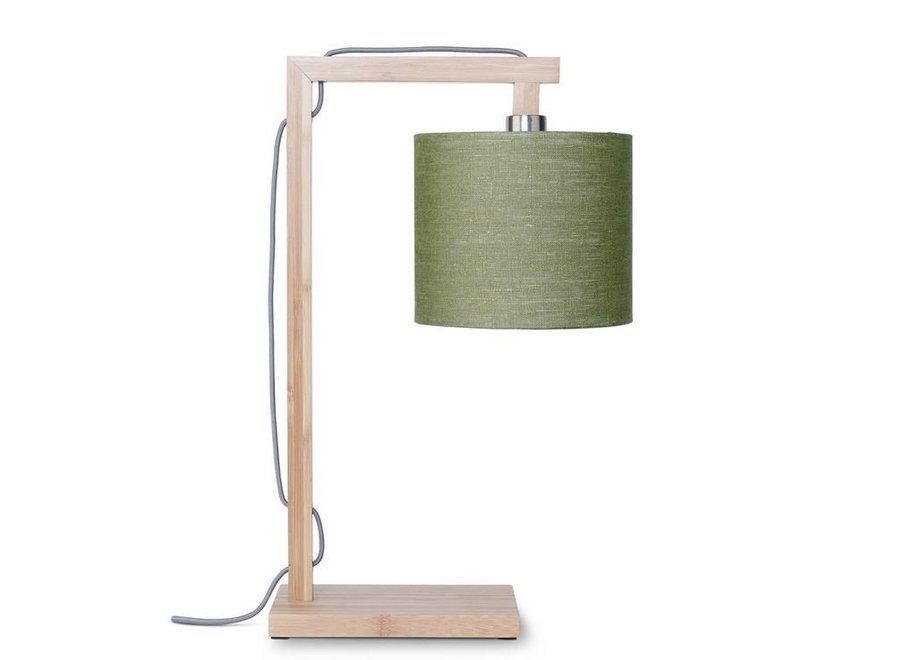 Tafellamp Himalaya groen  bamboe