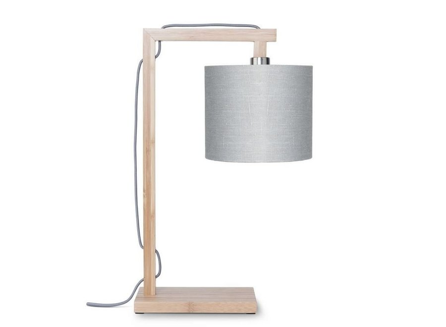 Tafellamp Himalaya lichtgrijs  bamboe