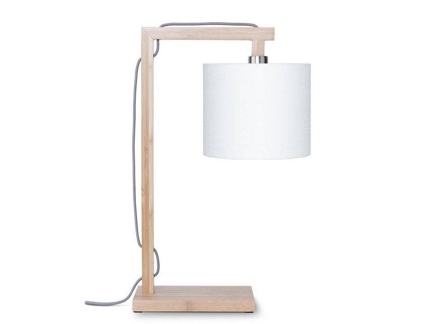 Tafellamp Himalaya wit  bamboe
