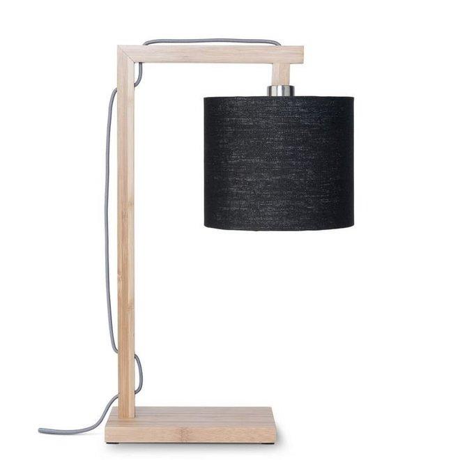 Tafellamp Himalaya zwart  bamboe