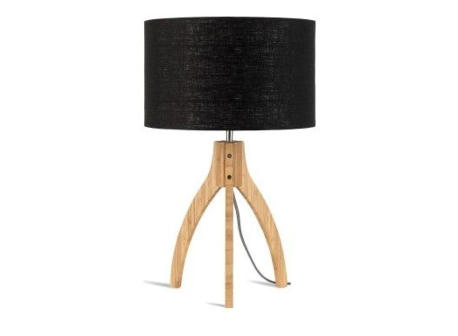 Tafellamp Annapurna zwart  bamboe