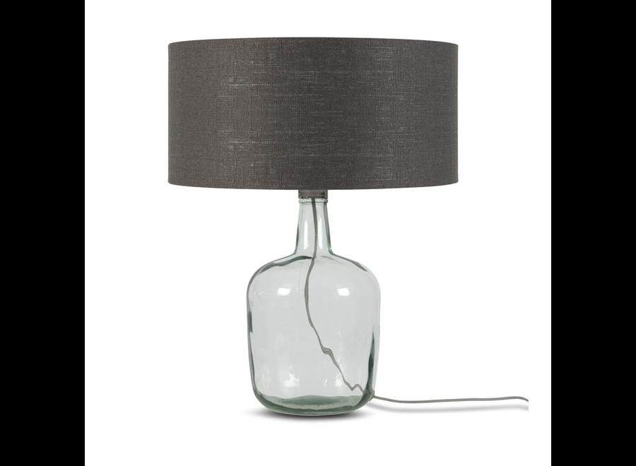 Tafellamp Murano L donkergrijs  bamboe