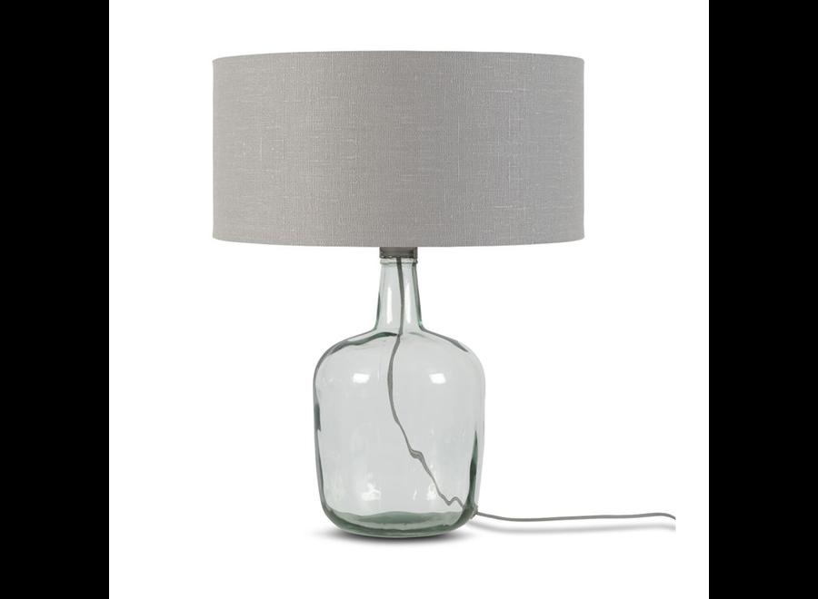 Tafellamp Murano L lichtgrijs  bamboe