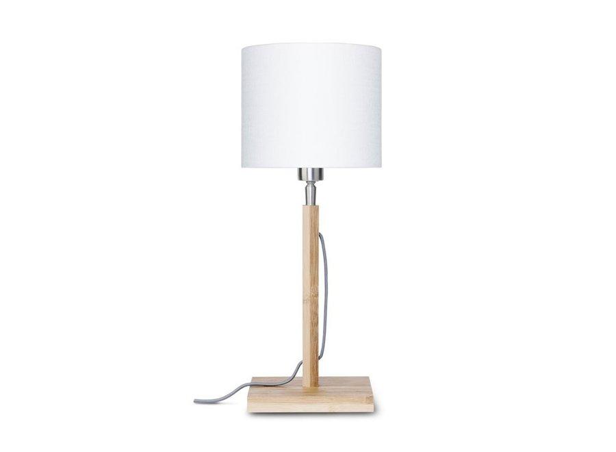Tafellamp Fuji wit  bamboe