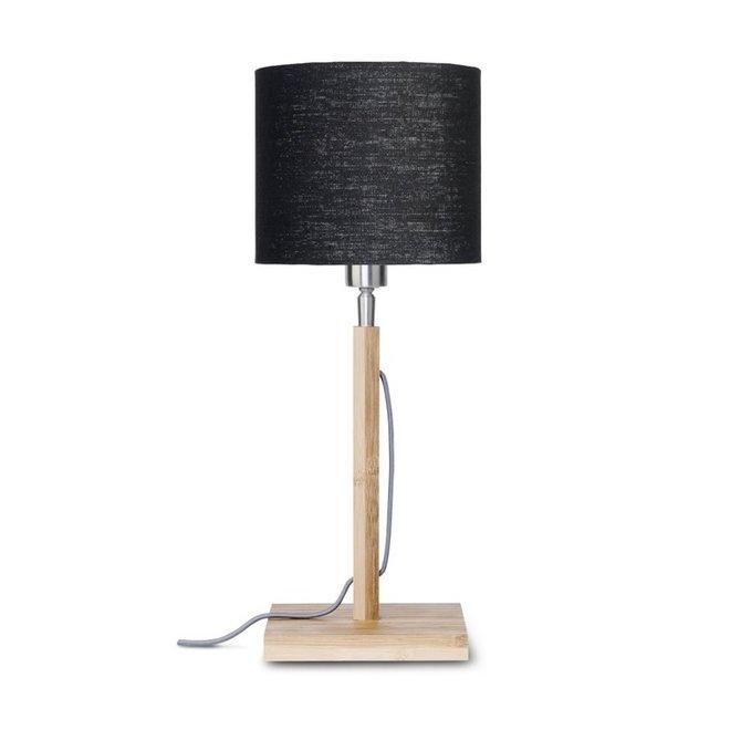 Tafellamp Fuji zwart  bamboe