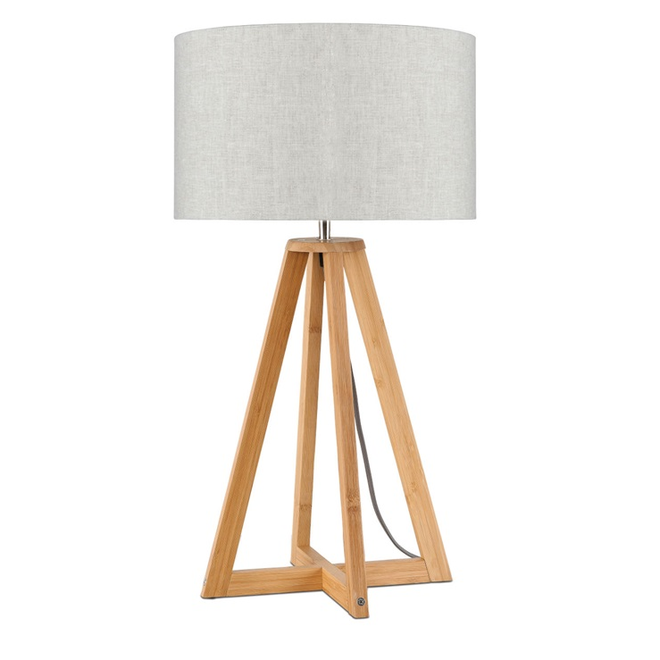 Tafellamp Everest licht linnen  bamboe