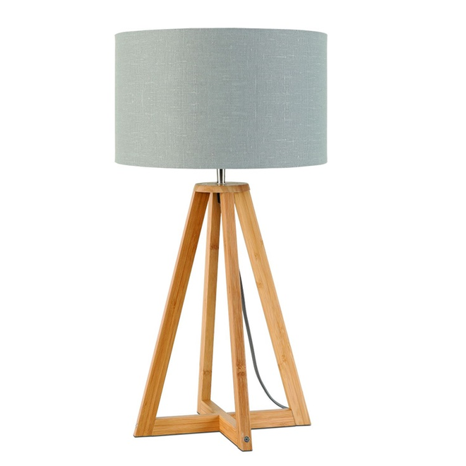 Tafellamp Everest lichtgrijs  bamboe