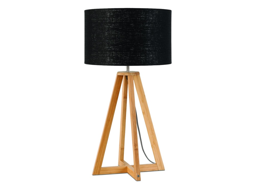 Tafellamp Everest zwart  bamboe
