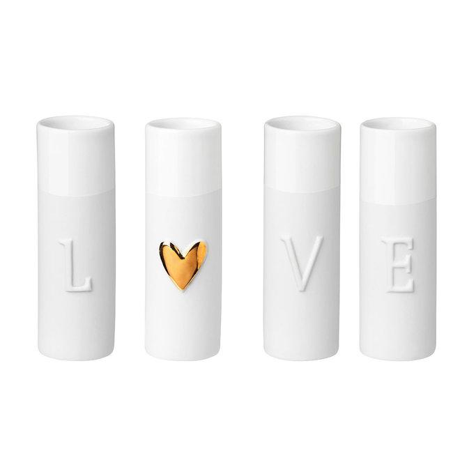 Love Mini vases Set of 4pcs