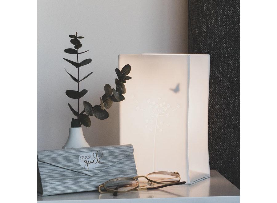 Tafellamp Porselein met vlinder