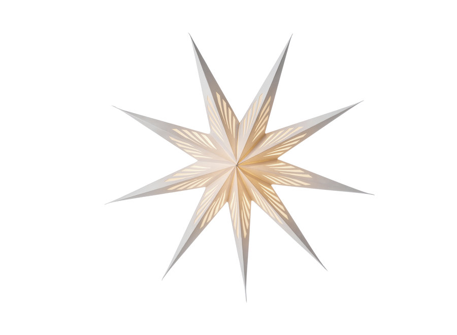 Papieren ster Vivien wit  80 cm