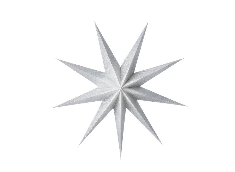 Papieren ster Moonlight zilver 80 cm