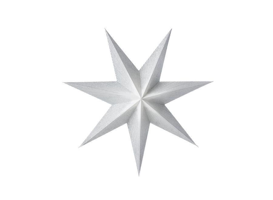 Papieren ster Moonlight zilver 50 cm