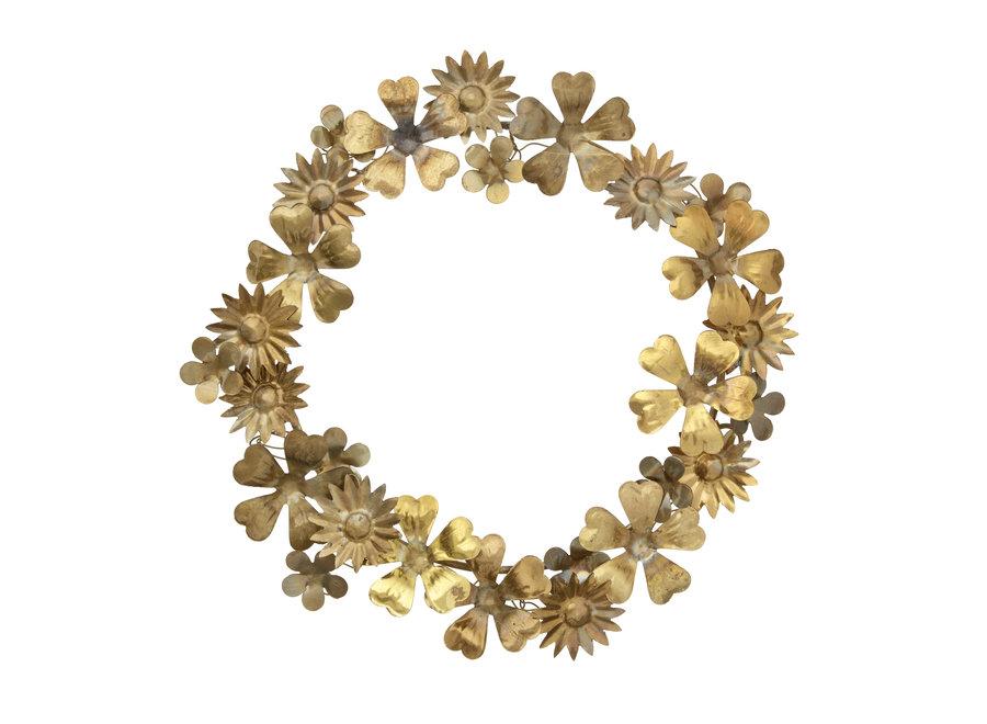 Gouden bloemenkrans Small