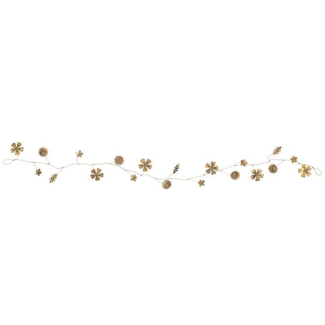 Gouden bloemen slinger 140 cm