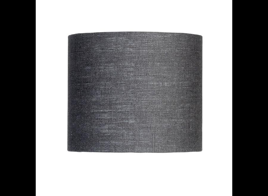 Enkel de lampenkap eco linnen Small/ donkergrijs