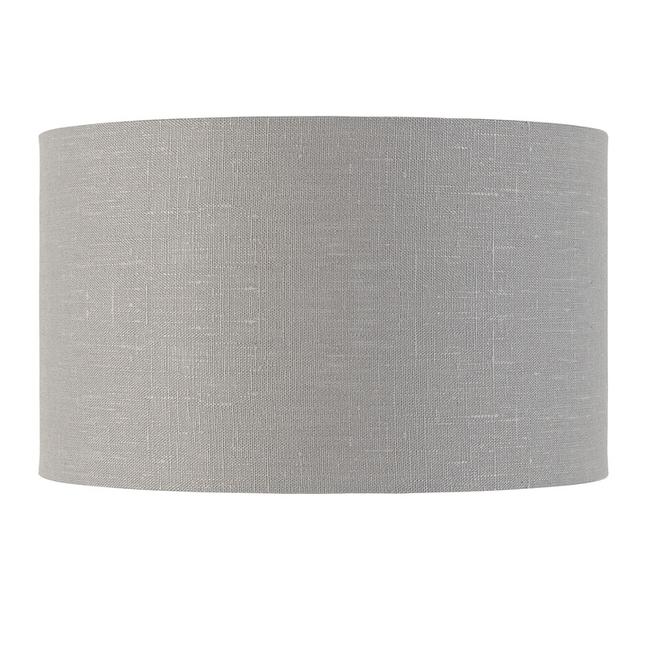 Enkel de lampenkap eco linnen Medium/ lichtgrijs